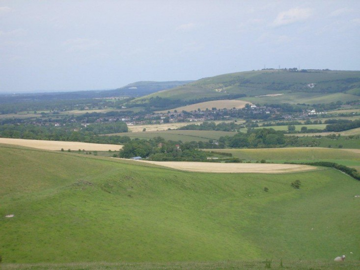 View across the valley from the Downs above Steyning