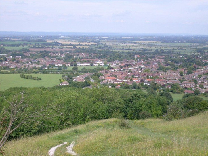 View of Steyning from the Downs
