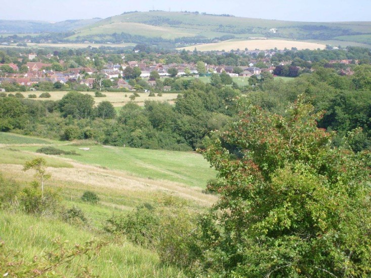 View from the Downs above Steyning