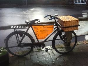 Advertising bicycle